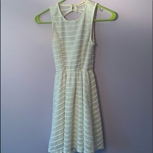 Other - WHITE STRIPED DRESS